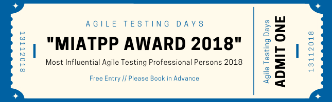 Most Influential Agile Testing Professional Person 2018